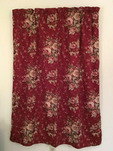 Waverly Red Vintage Norfolk Rose Floral Curtain Panel (1) 52.5 W x 60.5 L - $25.73