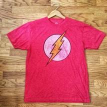 DC Comics Originals The Flash Lightning Bolt Red Graphic Superhero T-Shirt LARGE - $15.00