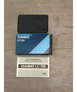 Casio LC-786 Calculator Box, Instructions And Case - $15.00