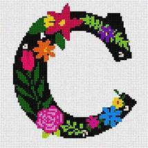 Pepita Letter C Primary Floral Needlepoint Kit - $81.18