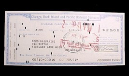 20001a chicago rock island   pacific railroad dividend check 1961 collectible thumb200