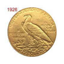 1908/1926 Antique US Commemorative Old Coin Gold Plated Collectible Coin... - $12.39