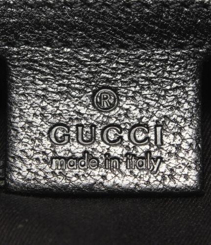 Auth Gucci Shoulder Bag Black OLD Gucci Vintage GG Canvas Zipper Leather G328
