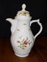 Rosenthal Continental Sanssouci Rose White No Trim Coffee Pot 4 Cup Germany - $44.99
