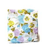 Vintage Twin Fitted Sheet Pansy Pansies 70s Flower Floral Purple Blue Canon - $32.62