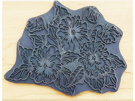 Stampendous Pansy Patch Wood Mounted Rubber Stamp #R032 image 2