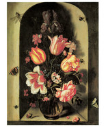 "20x30""Poster on Canvas.Home Room Interior design.Flower bouquet vase.6474 - $60.78"
