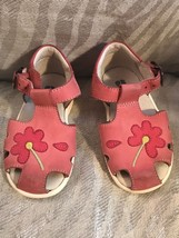 Elefanten Pink Flower Girl's Toddler Sandal Shoes Size 21(US 5) - $9.05