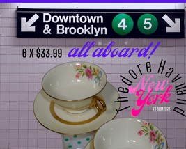 6 Theodore Haviland New York KENMORE Footed Cup and Saucer. - $33.99