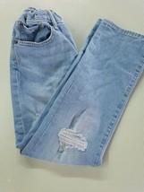 Gap Kids 1969 Girls Regular Girls Distressed Jeans - Size 8 Adjustable waist - $7.92