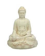 Buddha Groove Stone Finish Meditating Buddha Statue, 11.5 Inches - $112.34