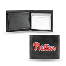 Philadelphia Phillies Wallet Official MLB Embroidered Billfold Leather Black - $33.45
