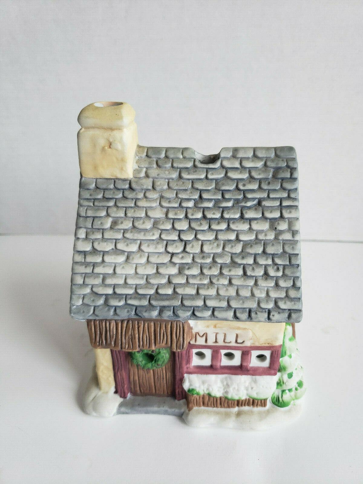 Grist Mill Tealight Candle House Porcelain Village Christmas PartyLite P0805