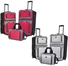 New Yorker 3pc Light Expandable Rolling Luggage Suitcases & Tote Bag Tra... - $79.99