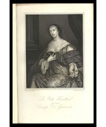 La Belle Hamilton, Countess de Grammont 1851 Art Print Charles II Court ... - $24.99