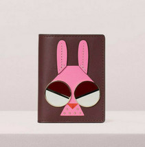 Kate Spade spademals money bunny bifold cardholder Wallet rabbit ~NWT~ - $98.01