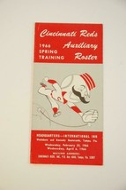 1966 Cincinnati Reds Baseball Spring Auxillary Roster Schedule Issue #RS221 - $44.55