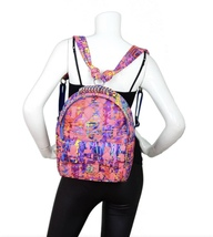 BRAND NEW AUTH CHANEL RUNWAY PAINT SPLATTER PINK MULTICOLOR QUILTED BACKPACK  image 12