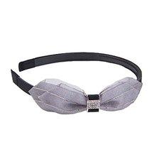 Hair Hoop Headband Korean Wild Bow Con-Slip Diamond Hairpin Hair Jewelry