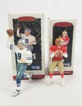 (Lot of 2) Hallmark Keepsake 95 & 96 Joe Montana 49er & Troy Aikman NFL ... - $18.80