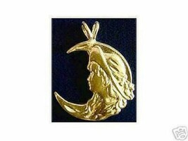 SALE 2110 Celtic Moon Goddess Maiden Charm Gold Plated - $17.20