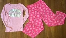 ~ Childrens Place pink 5 more minutes pajama long sleeve set pj jammies ... - $7.43