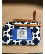 SPARTINA Wristlet Wallet Zip Around Window ID Blue White - $23.17