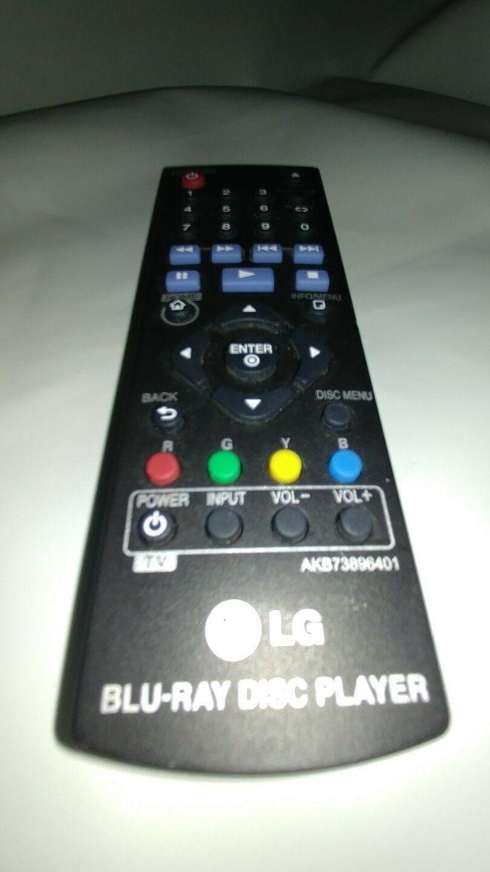 Genuine OEM Original LG AKB73896401 Blu-Ray Disc Remote Control