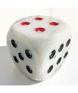 game die marble cube stone paperweight decorative shelf office decor dor... - €7,98 EUR