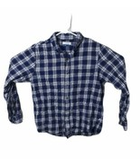 Magellan Outdoors Men's Classic Fit Plaid Long Sleeve Flannel Shirt Blue... - $20.24