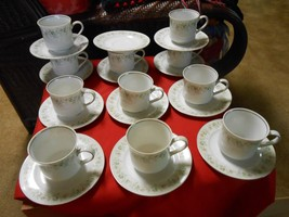 Beautiful JOHANN HAVILAND Dinnerware Set of 11 CUPS & SAUCERS plus 1 FRE... - $37.83
