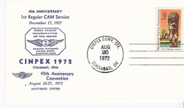 45th ANNIVERSARY 1st REGULAR CAM SERVICE CINPEX CINCINNATI OH 8/26/1972 - $1.98