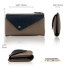 Otto Angelino Genuine Leather Envelope Wallet with Phone Compatible Slots - RFID image 2