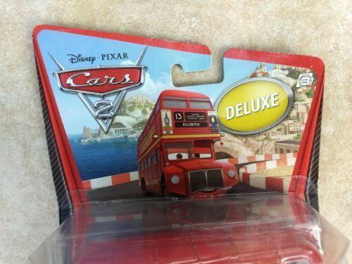 2010 Mattel sealed Disney Cars Pixar Double Decker Deluxe Bus metal toy figure  image 3