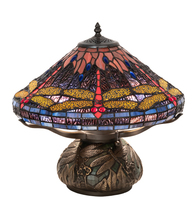 """16"""" High Tiffany Hanginghead Dragonfly Cone Table Lamp - $651.00"""