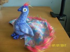 plush rainbow peacock bird ty beanie stuffed animal Flashy - $9.90