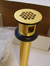 Jaclo  808-SG  Grid Lavatory Drain with Overflow - Satin Gold - $85.00