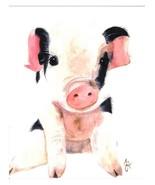 Dolly Estrelle Dolly Pig Piglet Beautiful Vibrant 11x14 Art Print Poster - $14.99