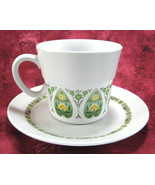 Cup And Saucer Noritake Palos Verde Progression Porcelain 1969-1979 Yellow Green - $18.00