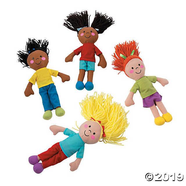 Yarn Hair Plush Dolls