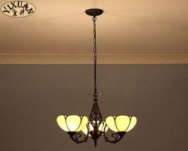 Tiffany Style Amber Glass 3- light Chandelier Flush Mount Ceiling Lamp Lighting - $140.12+