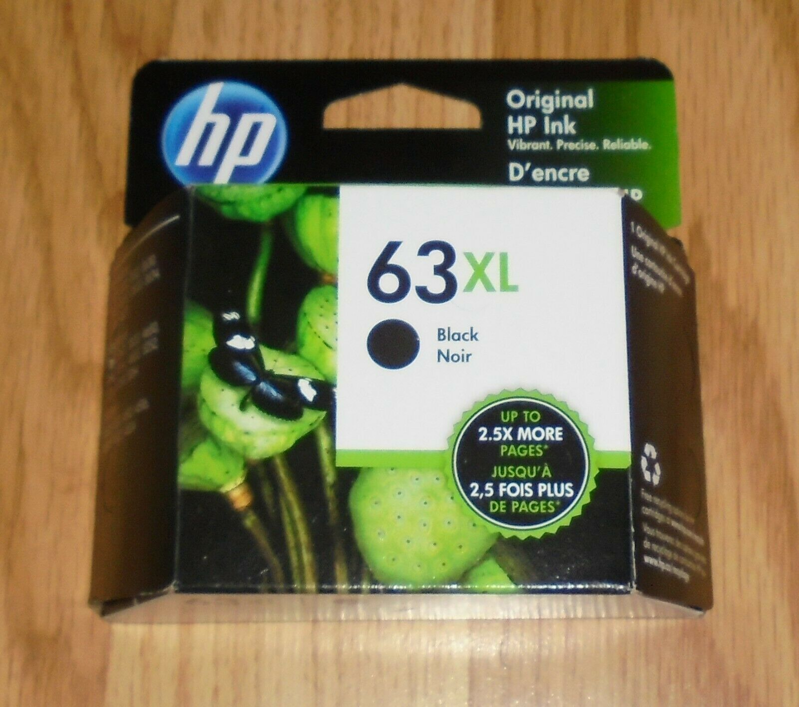Primary image for Genuine HP F6U64AA 63XL Black High Yield Original Ink Cartridge 2021   63 XL