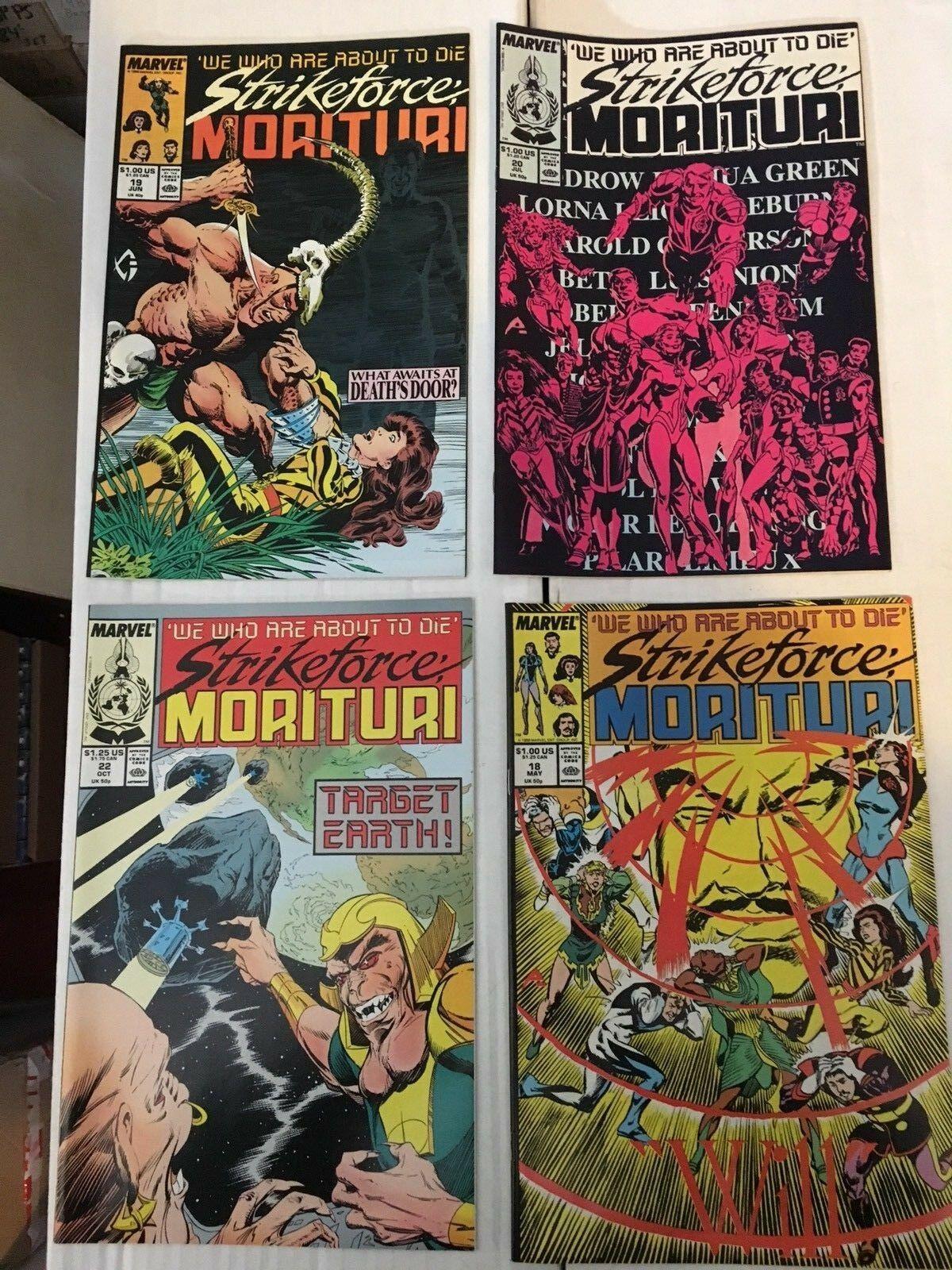 Strikeforce Morituri 1 - 31 Marvel Comic Book COMPLETE SET 1986-89 Minus 1 Issue