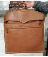 Vintage Quality Dilana Santa Fe Tan Leather Hanging Garment Travel Bag - $116.88