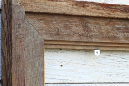"""Natural Floating Frame--(All Sizes) Authentic Rustic Barn Wood 3.5"""" Picture Fram - $25.00"""