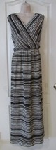 Apt. 9® Slvless. Surplus Neck Maxi Dress Ivory/Black  Women's  Sz L  NWT... - $26.70