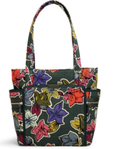 Vera Bradley Iconic Deluxe Small Vera Tote Bag in Falling Flowers Quilte... - $49.95