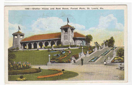 Shelter House Forest Park St Louis MO 1925 postcard - $5.94