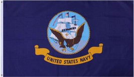 """United States Navy US Eagle and Ship Grommet Flag 3"""" x 5"""" - $9.99"""
