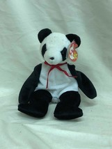 Beanie Baby Fortune the Panda Bear With Tag and Tag Protector TY 1998 - $2.94